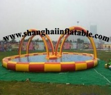 Giant water park equipment inflatable swiming pool(China)