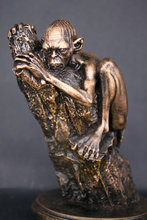15cm Hobbits Surrounding Gollum Imitation Copper Statue Toy Figures Decoration Gift(China)