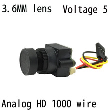 FPV Mini Digital Video Camera FPV-1000TVL 1000 TVL Line 3.6mm NTSC PAL w/ Camera lens Seat for Aerial Photography N/P Pattern