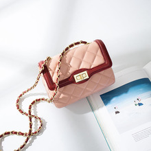 2017 Luxury Classical Famous Popular Design Women Chains Messenger Bag Brand Name Diamond Lattice Bag Shoulder Crossbody Bags(China)