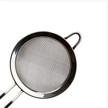 Stainless Steel Kitchen Pastry Tools Stainless Steel Baking Tools Mesh Wire Flour Handheld Screen Mesh Strainer Flour Sieve