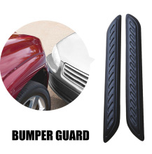 2016 2pcs Large Car Rubber Bumper Protector Guard Corner Strip Crash Bar Trim Protection Door Guards Lip Deflector Angle Cover