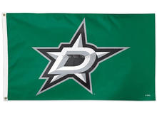 Dallas Stars Large Outdoor Banner Flag 3' x 5'  Fan Flag Banner brass metal holes Flag