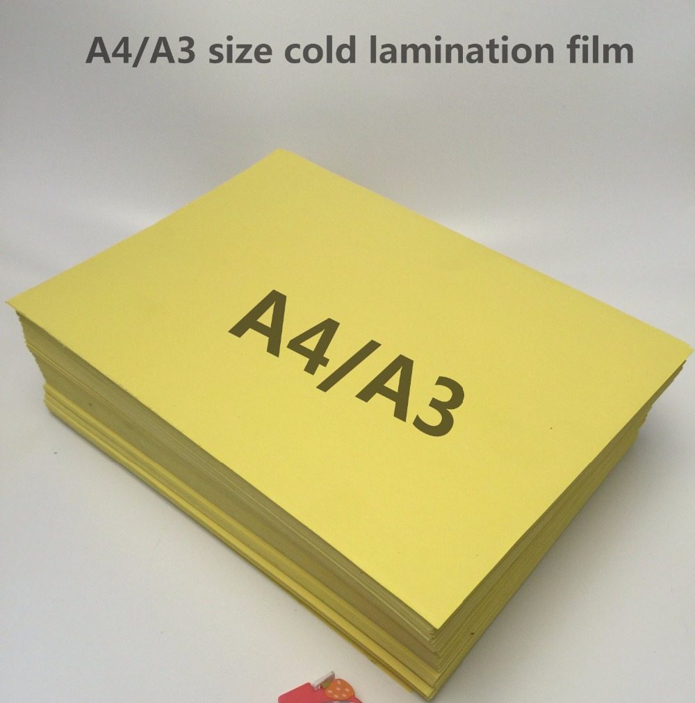 Laminating-Film Yellow-Back Photo for with Cold High-Quality A4/A3 title=
