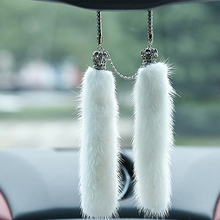 High end mirror of the car Diamond Pendant ornaments, plush furniture articles decoration auto accessories