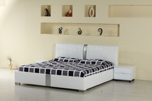 Bedroom furniture king size large soft bed leather comfortable bed B239(China)