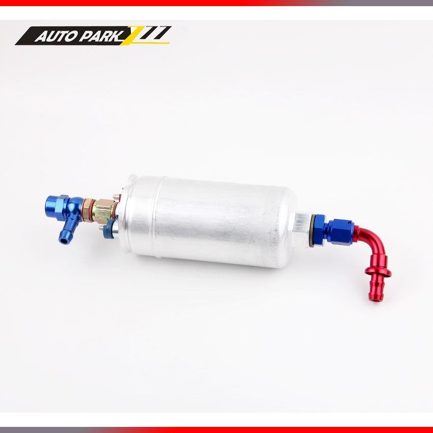 high flow oil pump 0580 254 044 external pump Inline Electric 12v an6 outlet Fuel Pump AN6-90 inlet fitting