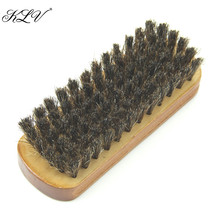 THINKTHENDO Wood Horse Hair Bristles Shoe Polish Buffing Brush Boot Care Clean Wax