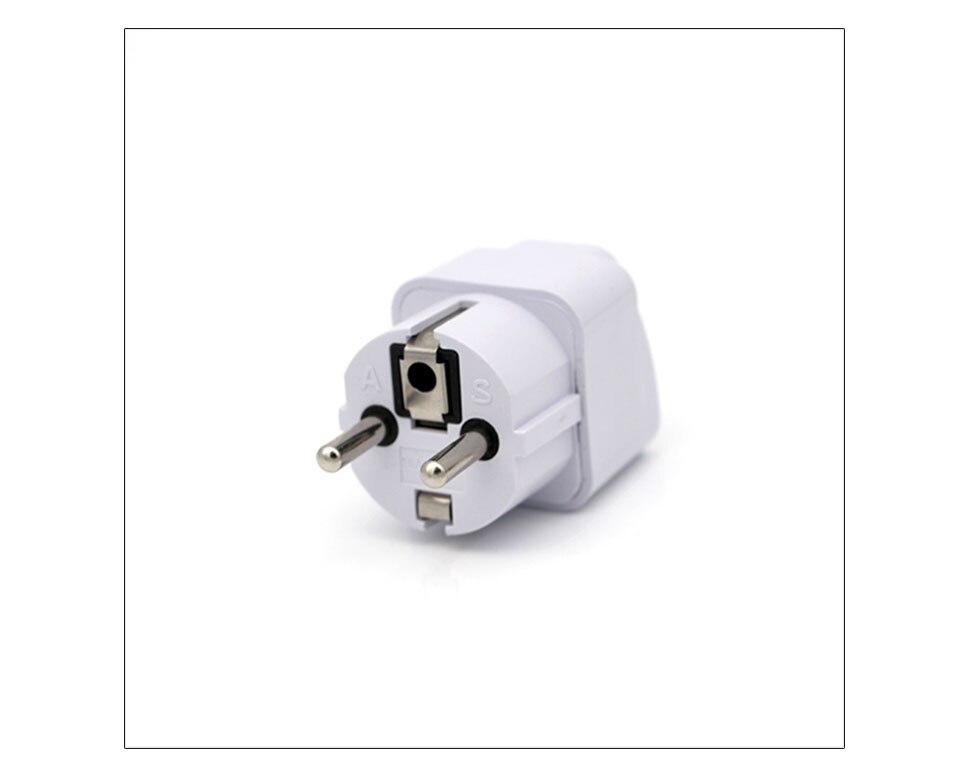 International Travel And Home Universal White Black Adapter Electrical Plug For UK US EU AU to EU European Socket Converter  (10)