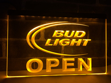 LA025- Bud Light Beer OPEN Bar LED Neon Light Sign home decor crafts(China)