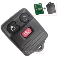 3 Button Replacement Auto Car Key Alarm Transmitter Starter Keyless Entry For Ford with Complete Remote Control Circuid Board(China)