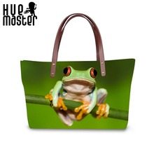 HUE MASTER Women's Handbags Large-capacity Beach Leisure Shoulder Bags Frog Print Cool Fashion Ladies Tote Bag Bag for Women