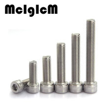 H062 M5 Bolt M5 Screw Stainless Steel Hex Socket Cap Screw, 304 Stainless Allen Bolt, DIN912 M5*6/8/10/12-100 Free Shipping(China)
