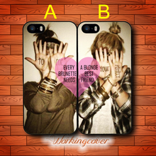 Every Brunette Needs A Blonde BFF Drop Shipping Case for iPhone X 8 7 6S 6 5S SE 5 5C 4S 4 Plus Cover for iPod Touch 6 5 Case.(China)