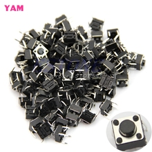 100Pcs 6*6*5mm 4pin Quality Mini Micro Momentary Tactile Push Button Switch #G205M# Best Quality(China)