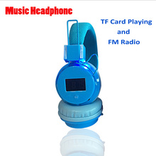 AV Stereo Wireless headset LED display headphone support FM Radio, TF Card playing