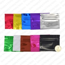 100 pcs 7.5x6.5 cm (3''x2.5'') Colored Zip lock Bags,Plastic Zip Bags,Food Storage Pouches bags Free S