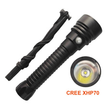 2017 new LED Diving Flashlight Underwater Waterproof 100m CREE XHP70 LED SCUBA Diving Flashlight Torch support 26650