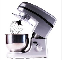 free shipping household commercial multifunctional 1000W stand mixer 7L,whisk,dough hook,beater