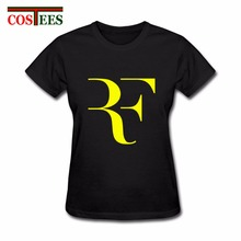 2017 Roger Federer RF T Shirt femme Short Sleeve casual O-neck T-shirt American Apparel women roger federer woman brand clothing(China)
