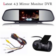 New arrival Car DVR Camera Dash Cam 1920P Car DVR Recorder Night Vision hidden camera Car detector 4.3 Digital Mirror Monitor