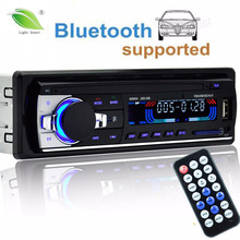 autoradio 12V Car Radio Bluetooth1 din car stereo Player Phone AUX-IN MP3 FM/USB/radio remote control For Iphone Car Audio(China)