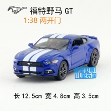 High Simulation 1:38 Ford Mustang GT,alloy pull back model cars,Two door sports car,free shipping