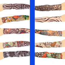 1pc multi-colors Superfine fiber elastic Fake temporary tattoo sleeve designs body Arm stockings tatoo for cool men women Sale