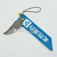 KLM Netherlands Airline Luggage bag Tag with Metal Wing Blue Gift for Aviation Lover Flight Crew(China)