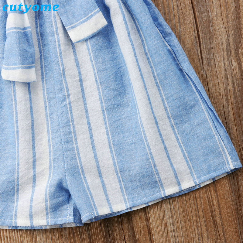 Mother Women And Daughter Girl Matching Clothes Striped Overalls Dress One-pieces Jumpsuits For Mommy And Me Family Outfits (21)