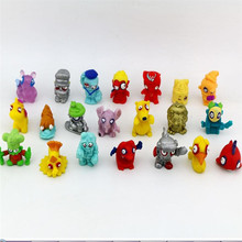 50Pcs/lot Zomlings Anime Garbage Trash Pack Action Figures 2-3 CM Soft Rubber Model Toy Kids Playing Animal Dolls  Gift