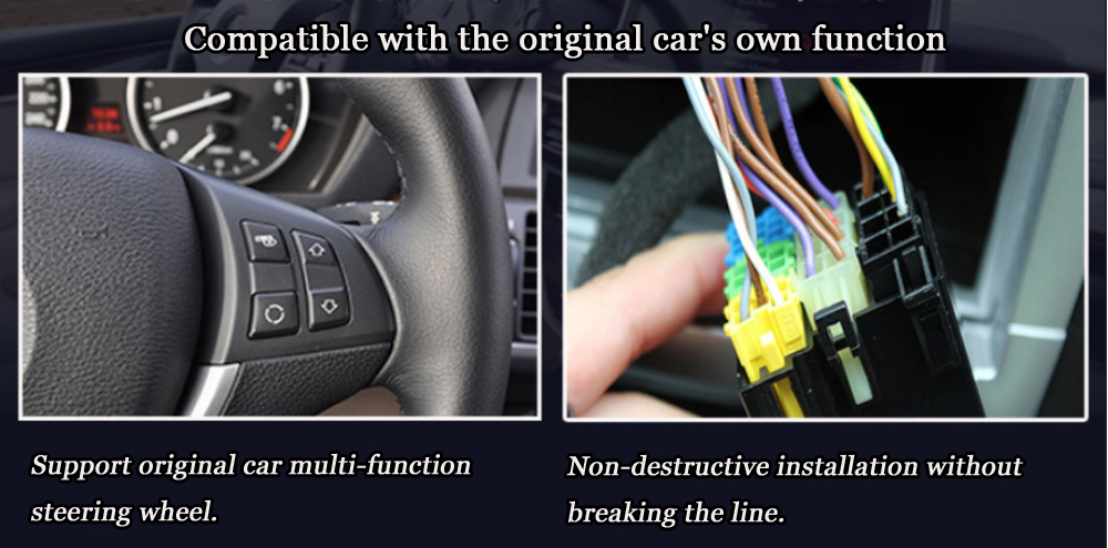 Compatible with the original car\'s own function