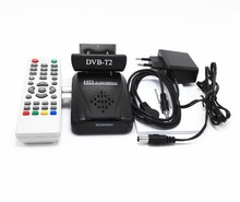 New MPEG4 Mini Scart DVB-T2 TV Tuner H.264 HD 1080p USB IR Receiver with SD SLOT