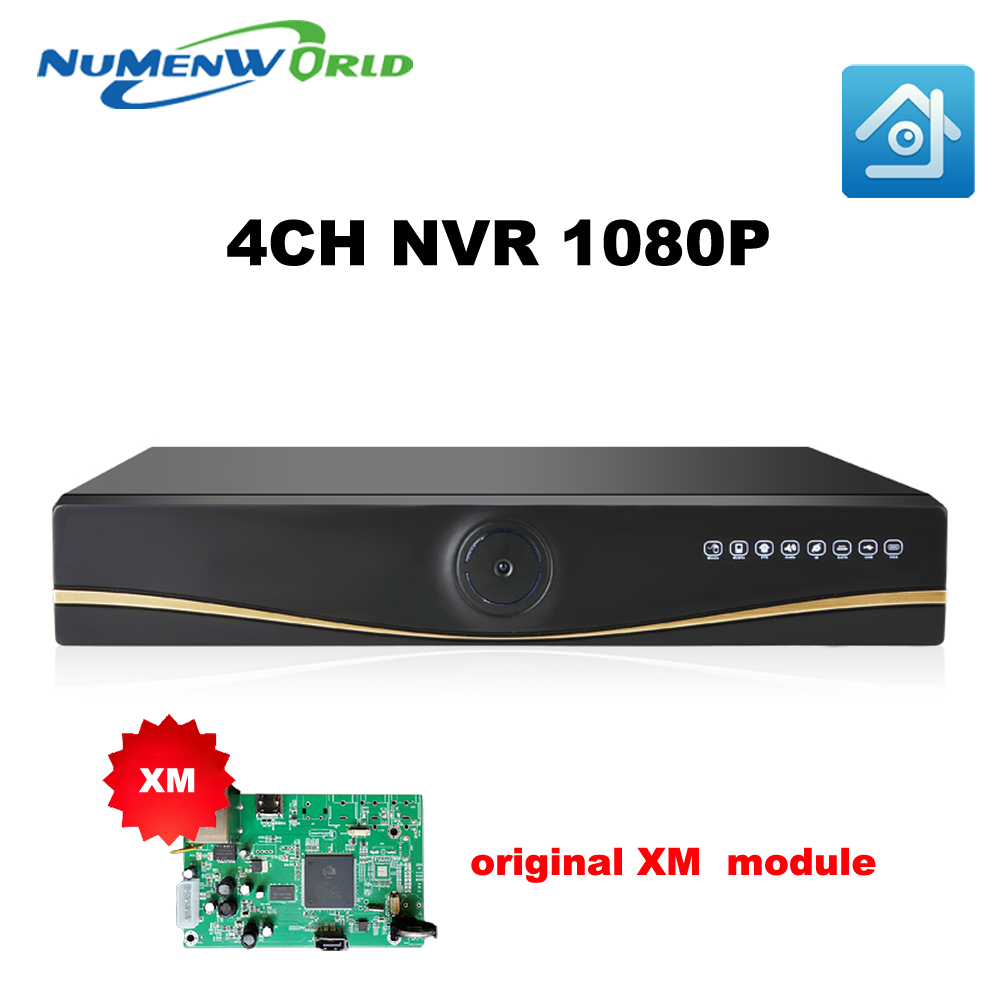 NEW original Full HD 4CH 1080P NVR CCTV Security NVR ONVIF H.264 HDMI Network Video Recorder 4 Channel For IP Camera system<br>