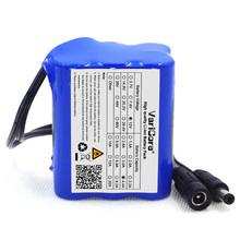 VariCore 4400mAh DC Plug Super Rechargeable lithium ion battery 12v Battery Pack For 18650 4.4A(China)