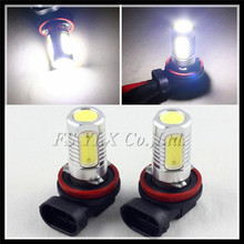 NEW H8 H9 H11 LED fog light bulb H8 H11 Car LED Headlight LED DRL Fog Lamp H11 COB LED fog driving light DRL foglamp bulb white(China)