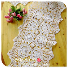 2016 new  fashion handmade hook cotton needle crochet table cloth  table runner for home decor towel cover as innovative item