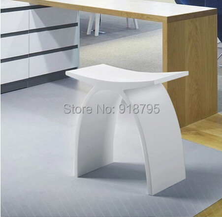 new matte modern curved bathroom seat stool bathroom steam shower chair white stone solid surface