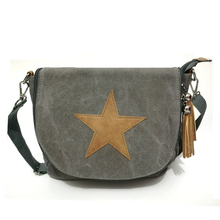 Big Star Series Tassel Canvas Women Cross body Bag Travel Tote Messenger Bag Factory Outlet Wristlets Sac a Main