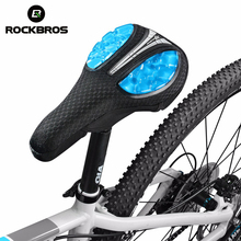ROCKBROS Bicycle Liquid Silicone Front Saddle Cover Mountain MTB Road Bike Soft Comfortable Cushion Saddle Seat Bicycle Parts(China)