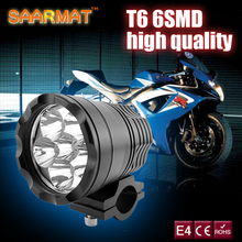 SAARMAT  2X Motorcycle LED Headlight with Cree Chips Waterproof Driving Spot Head Lamp Fog Light Motor Accessories 6000K 12V