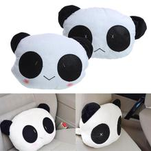Cute Cartoon Panda Style Plush Car Neck Cushion Car Headrest Pillow Lovely Ornament for Car Seat Soft Massage Cushion for Adult(China)