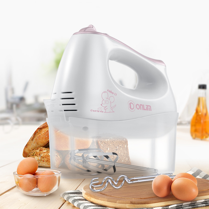 Unique Storage Box Electric Egg Beater Food Mixers Electric Blender Food Processor 5 Speeds 4 Stirrings DL-D101<br>