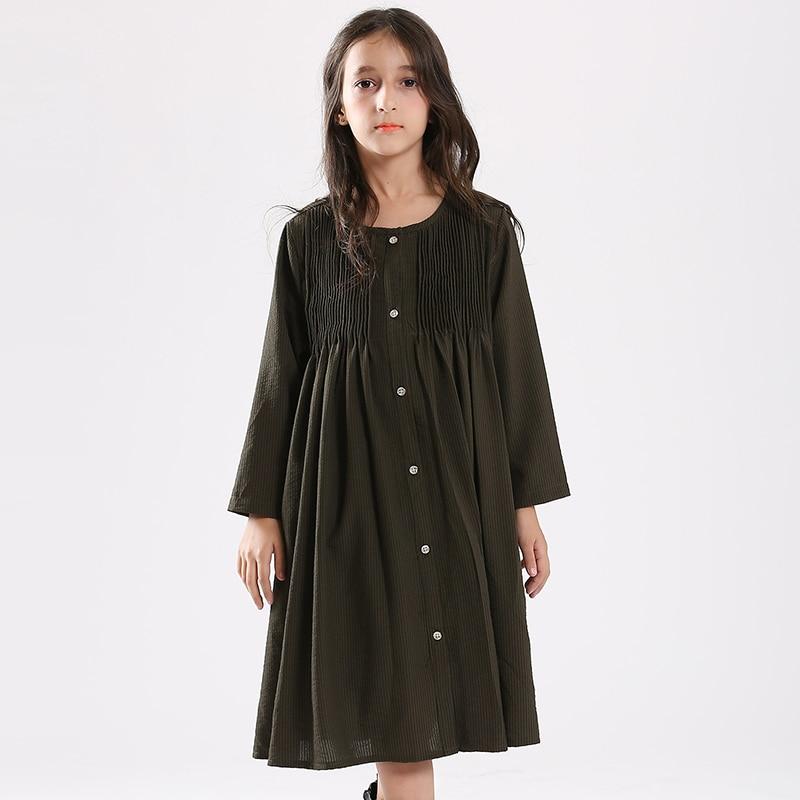 Teen Girls Dress 2018 Fashion 2Pcs Girls Clothing Sets Loose Dress Coat + Top Girls Casual Dress<br>