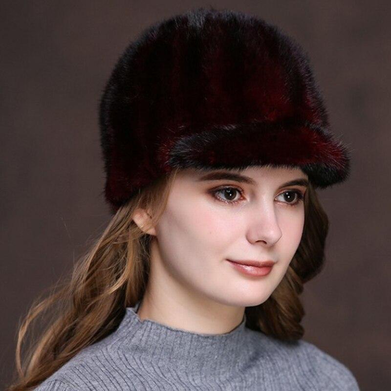 Mink hat raccoon fur Women Genuine Knitted Fur Hats Natural Caps lady winter warm Headwear for women winter hats ear flapsОдежда и ак�е��уары<br><br><br>Aliexpress