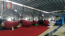 2.5m Diameter Pvc Inflatable Mirror Ball for Event Christmas Decoration Ball(China)