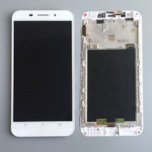 White LCD Display Glass Touch Screen Digitizer Assembly+Frame For Asus ZenFone Max ZC550KL NEW