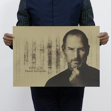 2015 Steve Jobs Custom Fashion FREE SHIPPING Poster Print Size(35x51)cm Wall Sticker modern paintings poster