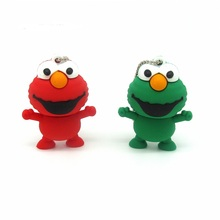 Lovely Sesame Street frog usb flash drive disk cartoon Pen drive personalized memory stick pendrive gift  4gb 8gb 16gb 32gb