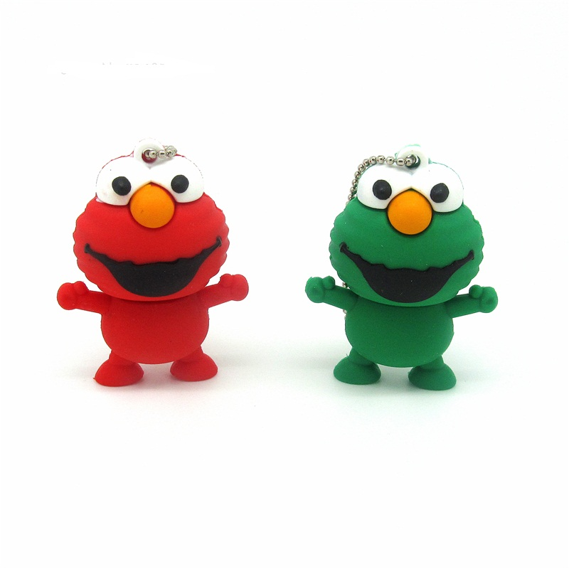 Lovely Sesame Street frog usb flash drive disk cartoon Pen drive personalized memory stick pendrive gift 4gb 8gb 16gb 32gb(China)
